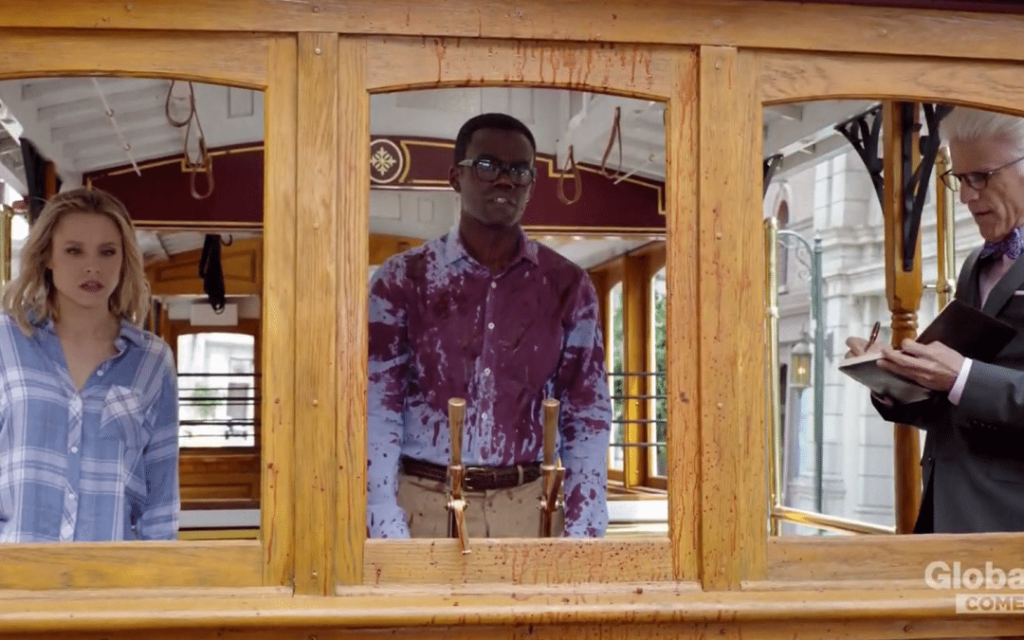 In The Good Place, Chidi fails the Trolley Problem again